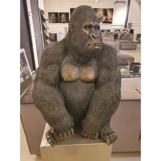 Gorilla beeld brons 60cm