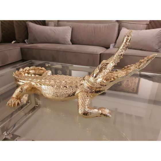 Krokodil metaal goud
